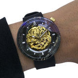 Black and Purple Wood and Resin Epoxy Watch