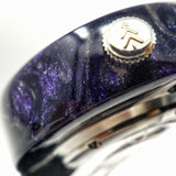 Purple Resin with Diamonds - Maker Watch Co