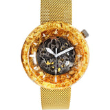Gold Watch Case with resin and gold flakes - Maker Watch Co.®