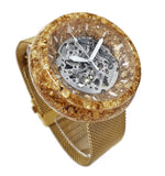 Gold Watch Case - Resin and Gold Flake - Side Profile - Maker Watch Co.®