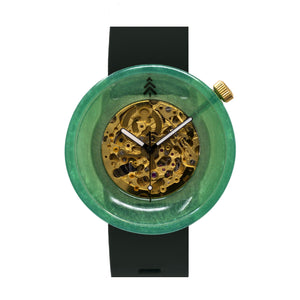 Green and Gold Resin Watch