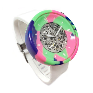 Retro Wave Resin Watch - White Band