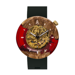 River Table Style Epoxy Wristwatch