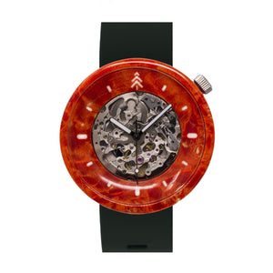 Solid Maple Wood Watch - Orange