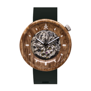 Maple Burl Wood Watch