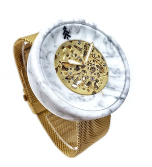 White Marble Resin Watch - Maker Watch Co.®