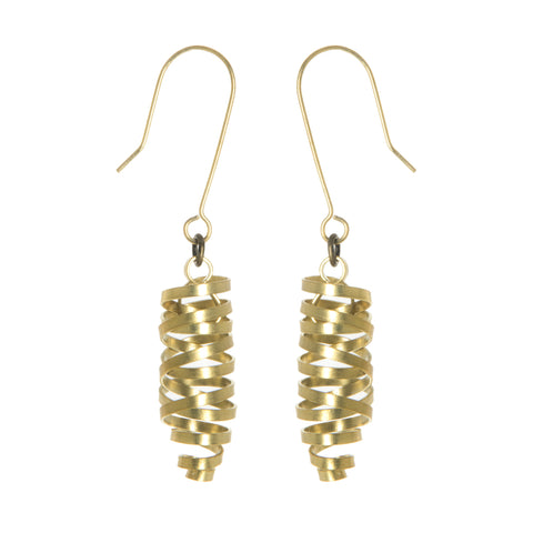 Brass Ribbon Laurita Earrings