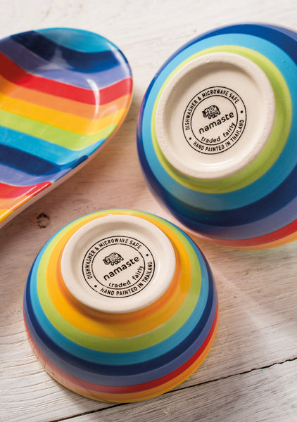 Rainbow Stripe Sugar Bowl