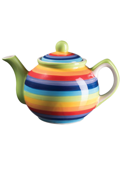 Rainbow Stripe Tea Pot - Small