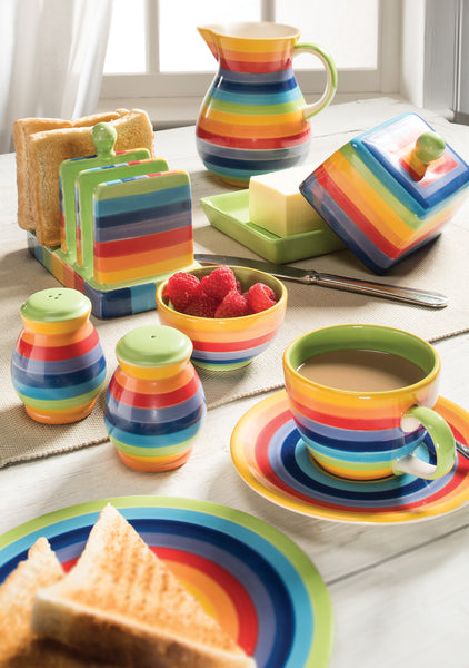 Rainbow Stripe Jug