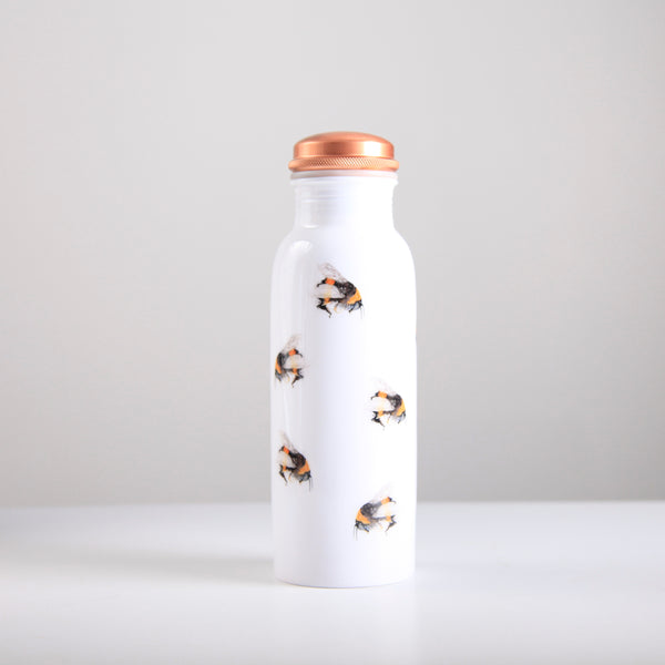 Copper Water Bottle Bees