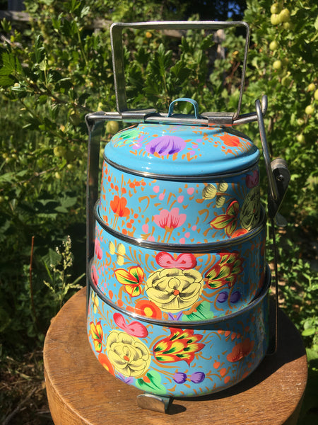 Hand Painted Enamelware - Tiffin Tin