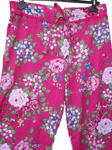 Fair trade Pyjama Bottoms - Deep Rosa Pink
