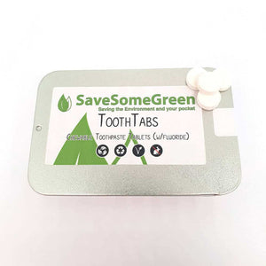 SLS Free, Chewable Toothpaste Tabs (with Fluoride)