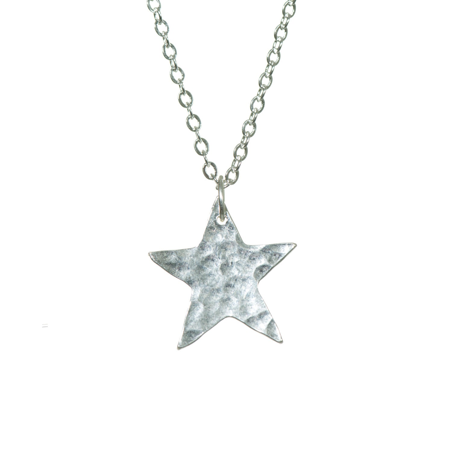 Plated star pendant