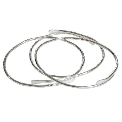 Plated meadow bangle silver