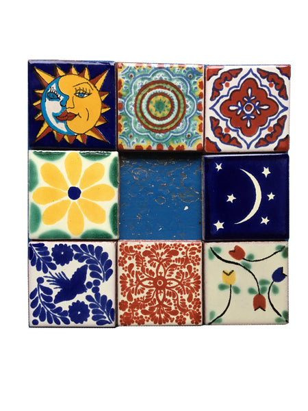 Mexican Hand Painted Ceramic Tiles - 5cm
