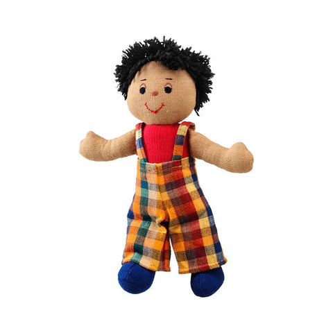 Lanka Kade Rag Doll - boy doll with brown skin and black hair
