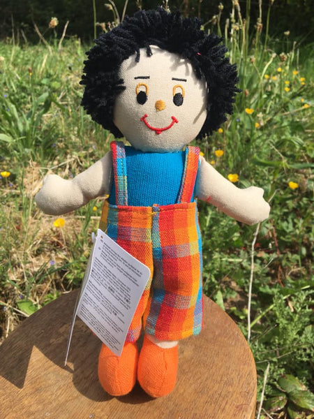 Lanka Kade Rag Doll - boy doll with white skin and black hair
