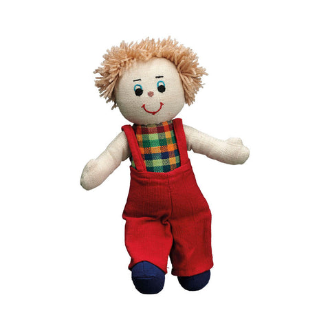 Lanka Kade Rag Doll - boy doll with white skin and blonde hair