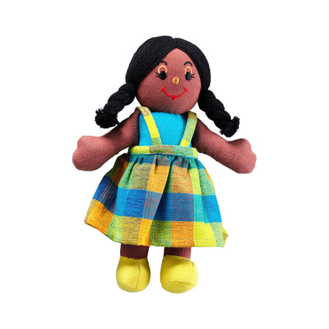 Lanka Kade Rag Doll - girl doll with black skin and black hair