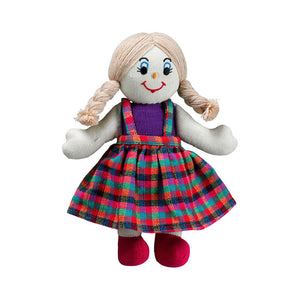 Lanka Kade Rag Doll - girl doll with white skin and blonde hair