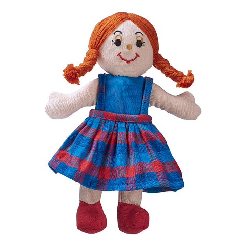 Lanka Kade Rag Doll - girl doll with white skin and red hair