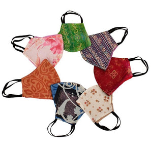 Fair Trade Washable Wired Face Mask - Recycled Sari Material