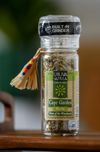 Fair Trade Chilli Gift Box - Garlic Chilli Hot Drops and Cape Garden Herbs Grinder