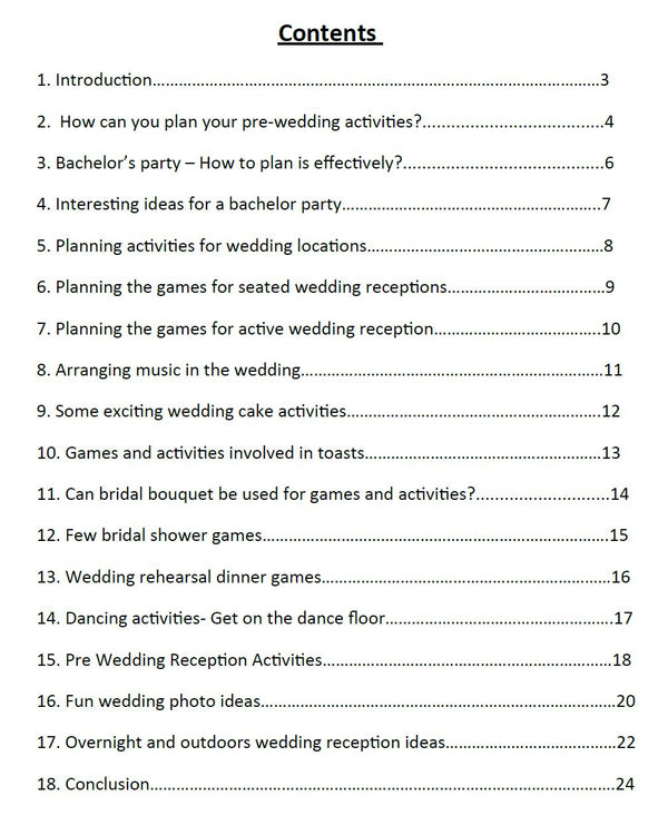 Wedding Entertainment Guide