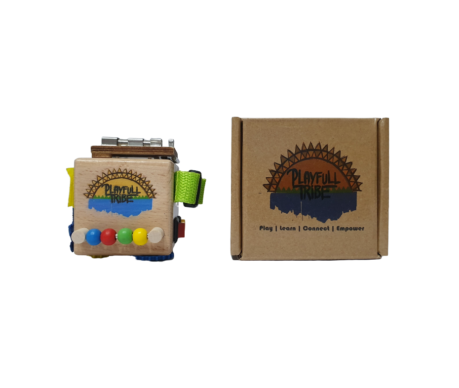Personalised Travel Busy Cube - Playfull Tribe Toys