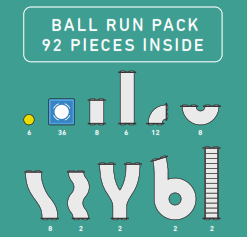 Connetix Tiles 92 piece Ball Run Pack