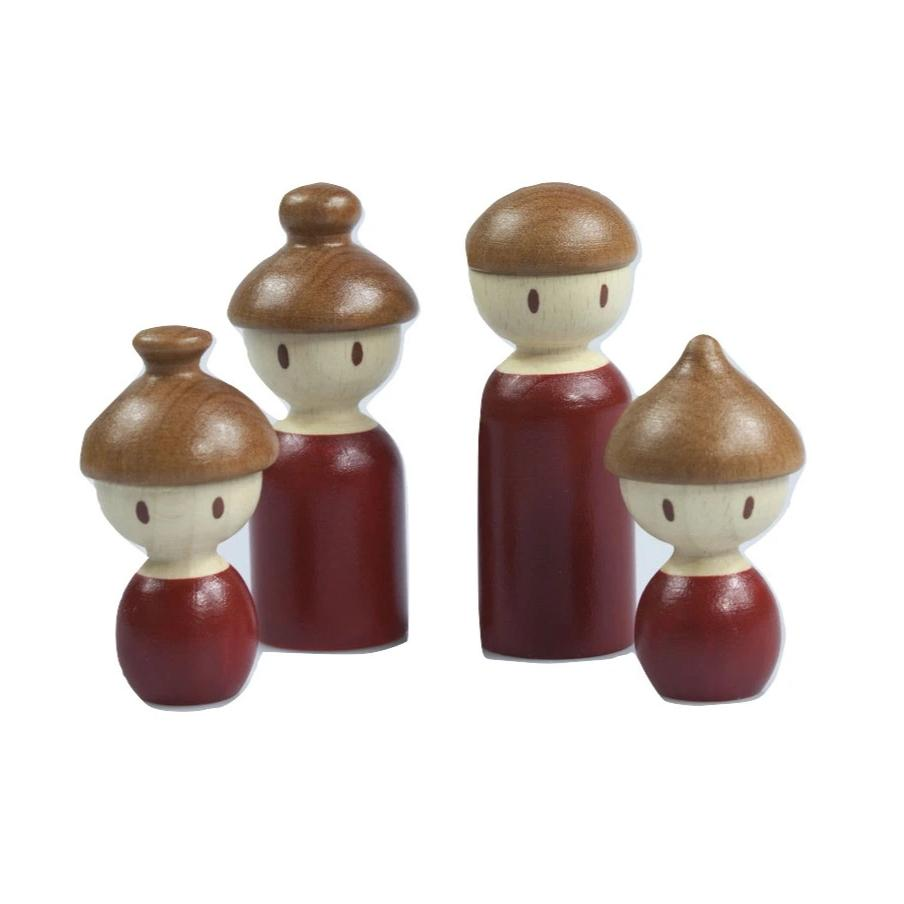 Wooden Peg Dolls Family - Playfull Tribe Toys