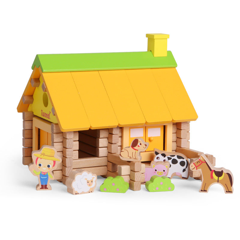 Log Builders Houses Series - Farm House - Playfull Tribe Toys