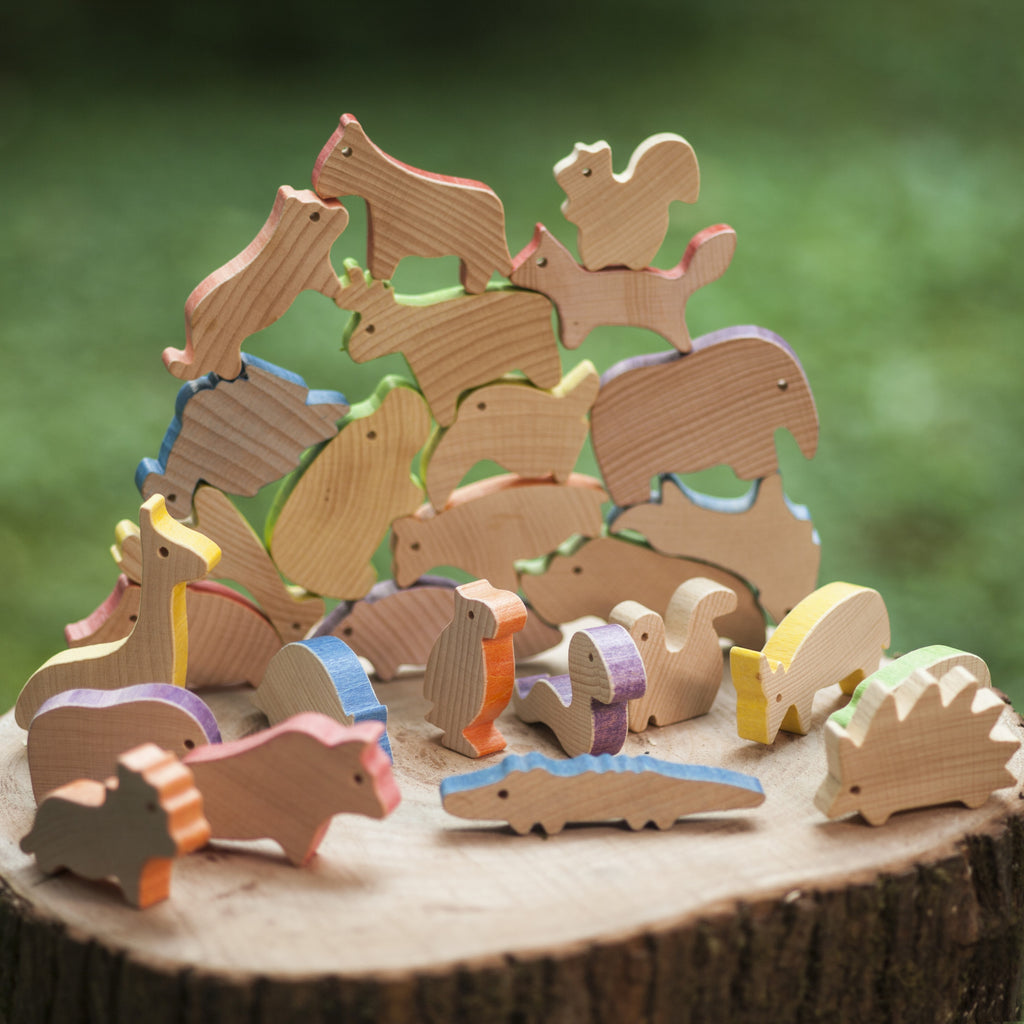 Balancing Animal Blocks - Forest Animals - Playfull Tribe Toys