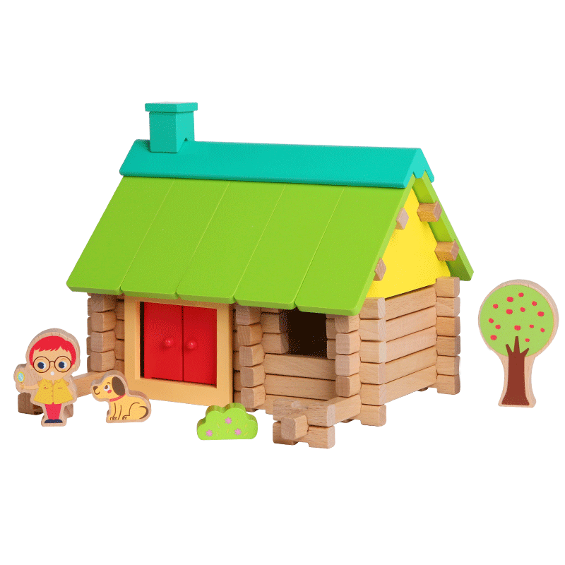 Log Builders Houses Series - Forest House - Playfull Tribe Toys