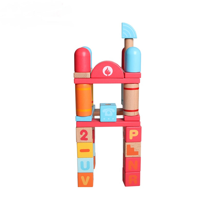 MagBlocks City Fire Station - Playfull Tribe Toys