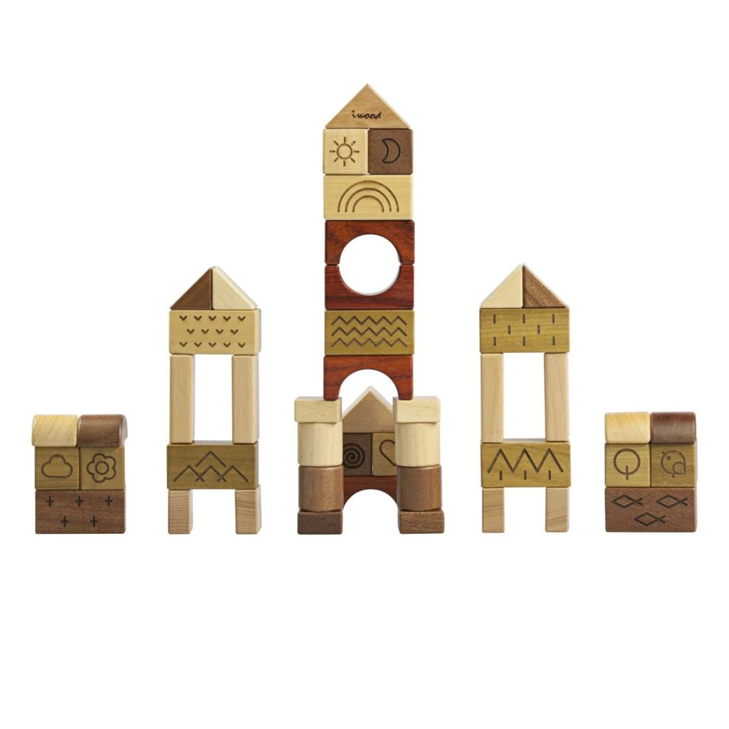 Natural Wooden Blocks Innovate - Playfull Tribe Toys