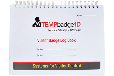 TEMPbadge™ Visitor Badge Log Book (240 badges) | No Customization | Made in USA | 3-5 Days | Minimum is 1 box of 1