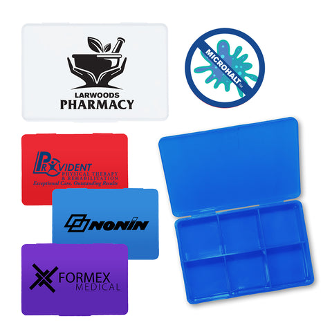 Antimicrobial Pill Box | Full Color Customization | Made in USA | 1-2 Weeks | Minimum is 1 Box of 250