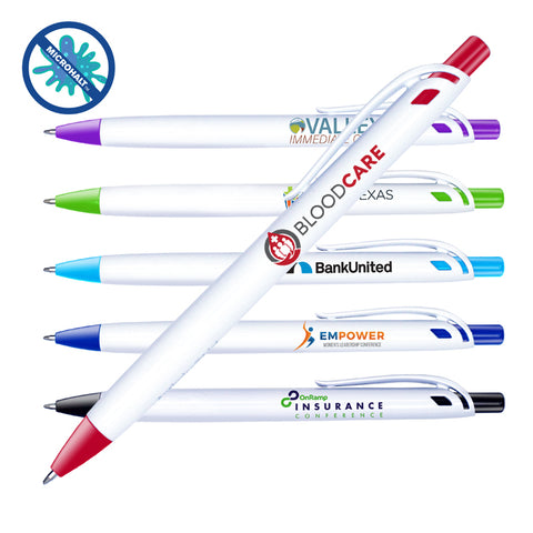 Antimicrobial Click Pen | Full Color Customization | Made in USA | 1-2 Weeks | Minimum is 1 Box of 250