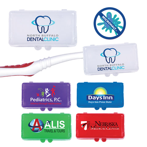 Antimicrobial Toothbrush Cover | Full Color Customization | Made in USA | 1-2 Weeks | Minimum is 1 Box of 250