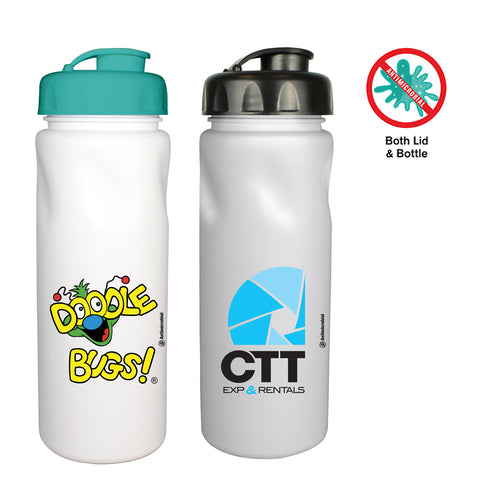 24 Oz. Antimicrobial Cycle Bottle with Flip Top Cap | Full Color Customization | Made in USA | 1-2 Weeks | Minimum is 1 Box of 200
