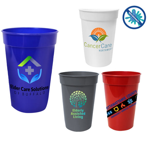 17 oz. Antimicrobial Stadium Cup | Full Color Customization | Made in USA | 1-2 Weeks | Minimum is 1 Box of 250