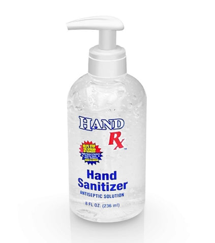 8 Ounce Pump Top  Hand Sanitizer | No Customization | USA Made | 5-7 Days | Minimum is 1 Case of 12