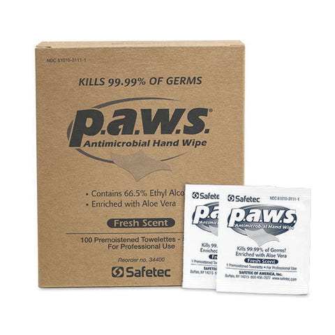 p.a.w.s. Antimicrobial Hand Wipes | No Customization | MADE IN USA | 3 Days | Minimum is 1 Box of 10