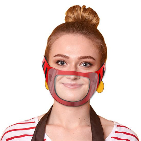 Face Mask with Clear Window | 1 Color Customization | Made in USA | 3-5 Days | Minimum is 1 Box of 125