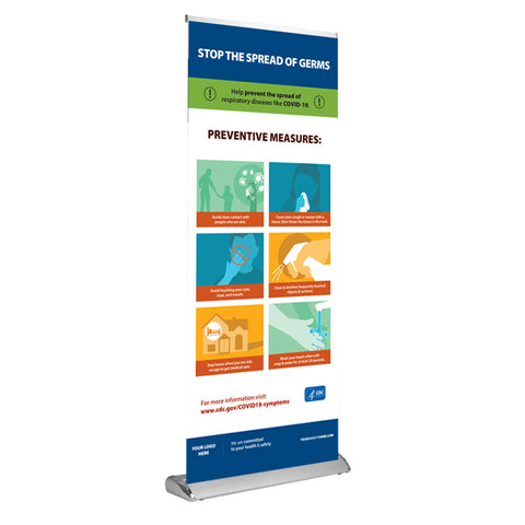 Prevent the Spread of COVID-19 Retractable Banner (USA Made | 8 Days)
