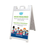 Face Mask Required A-Frame Sign Kit (USA MADE | 7 Days)