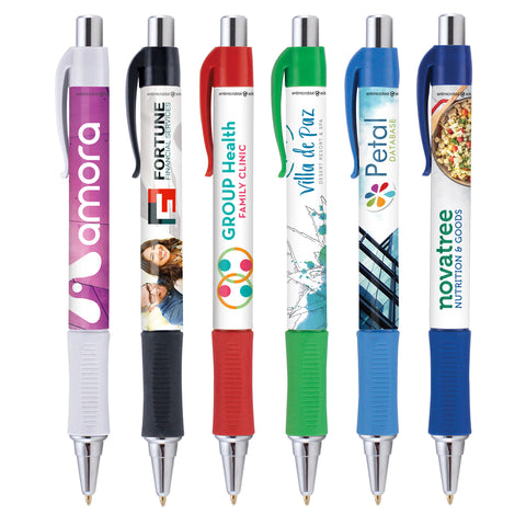 Antimicrobial Pens | Full Color Customization | Made in USA | 5 Days | Minimum is 1 Box of 250